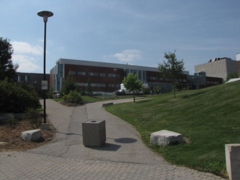 Path to co-op building and library