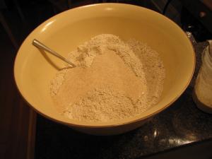 Adding sourdough starter